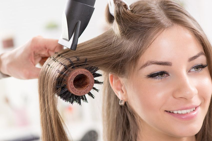 Blow Dry With a Brush
