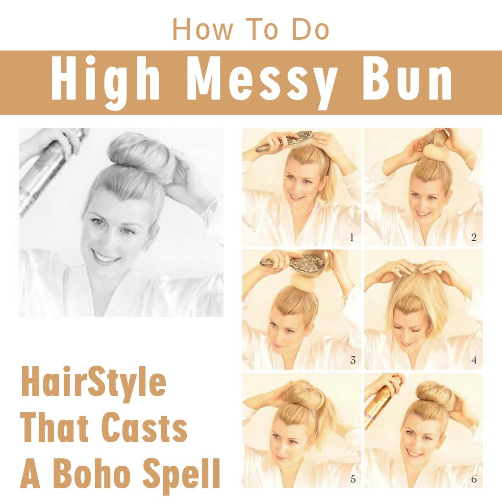High Messy Bun