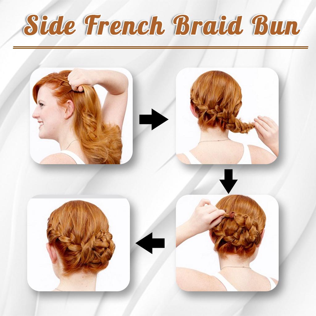 Side French Braid Bun